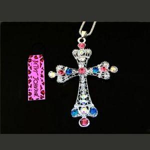 New Betesy Johnson Cross Necklace